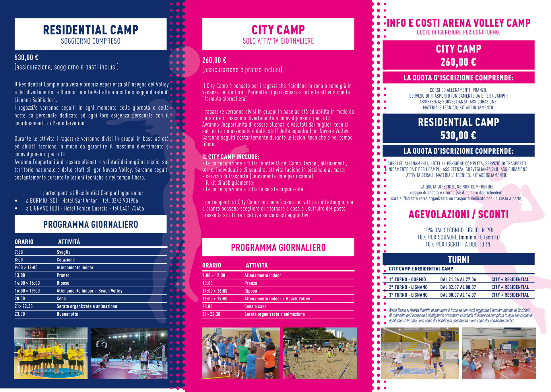 arena volley camp 2019 flyer retro